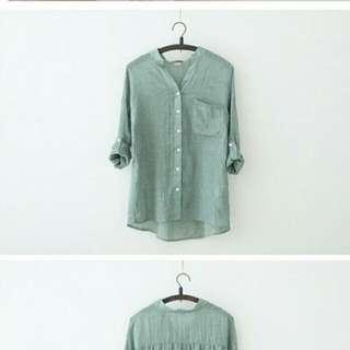 Japanese Linen Collar Shirt