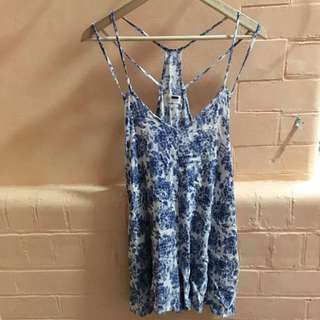 Blue And White Play suit Size 6