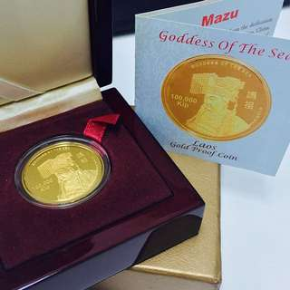Goddess Of The Sea Mazu Gold Proof Coin