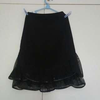 The Velvet Dolls-  SORA mermaid Skirt In Black - SIZE M