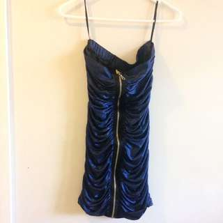 Sexy Blue Metallic Dress Size S 8