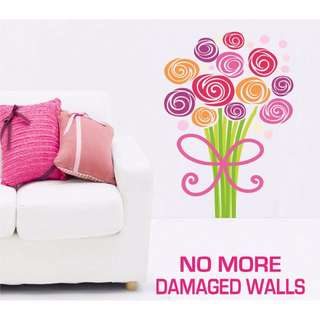 Large Size Bouquet of Flowers Wall Stickers - Totally Movable