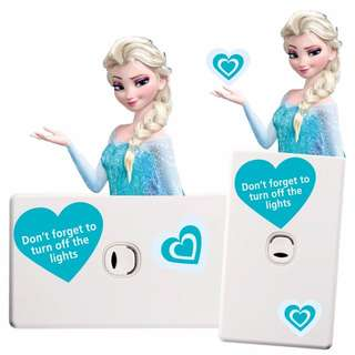 Frozen Elsa Light Switch Wall Sticker - Totally Movable