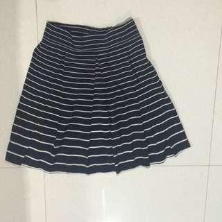 Black And White Stripes Skirt