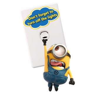 Minions Light Switch Wall Stickers - Totally Movable