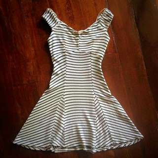 Bershka Stripes Skater Dress