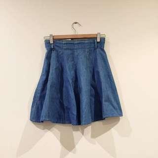 *Vintage* Zazie Denim Circle Hem Skater Skirt Size 6