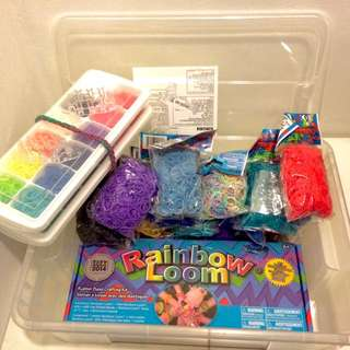 RAINBOW LOOM ++ EXTRAS! AUTHENTIC ORIGINAL GENUINE. Entire Loom Kit + 18x New Unopened Packets