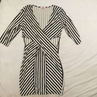 Striped Cut Out Dress