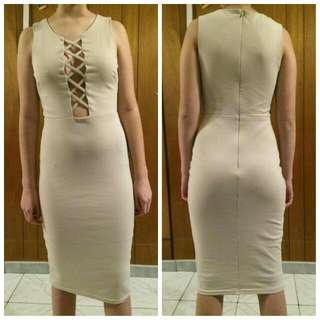 NK Fashion Cream Dress