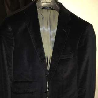 Oxford Navy Velvet Blazer