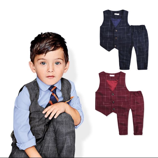 9f74e5a951e05 2016 New children's leisure clothing sets kids baby boy suit vest ...