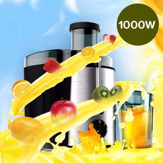 Stainless Steel Juice Extractor 1000W Whole fruits vegetables Veggie Juice Juicer Fountain Quick Clean,1 Year Warranty