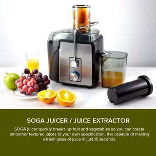 Stainless Steel Juice Extractor 1200W Whole fruits vegetables Veggie Juice Juicer Fountain Quick Clean, 1 Year Warranty