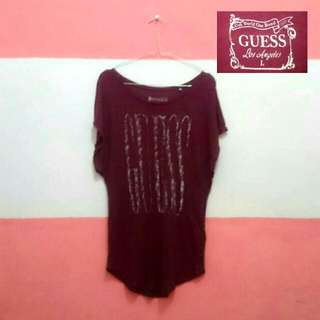 Top Guess Blouse Maroon