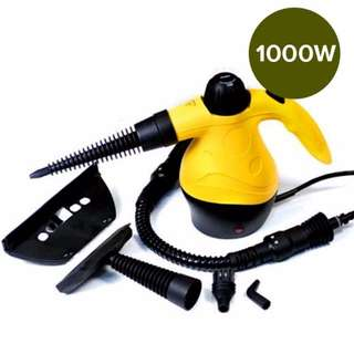 Handheld Steam Cleaner Yellow 1000w Portable Handheld Handy Steam Cleaner Floor Carpet Steamer Washer Pressure, 1 Year Warranty