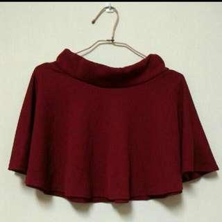 (全新)紅色短圓裙
