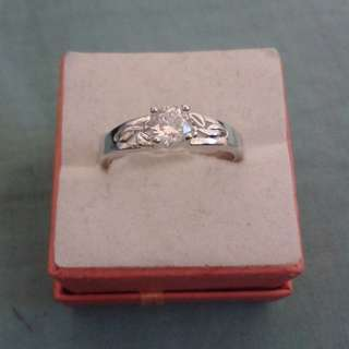 Silver Plated Smooth Dainty CZ Ring