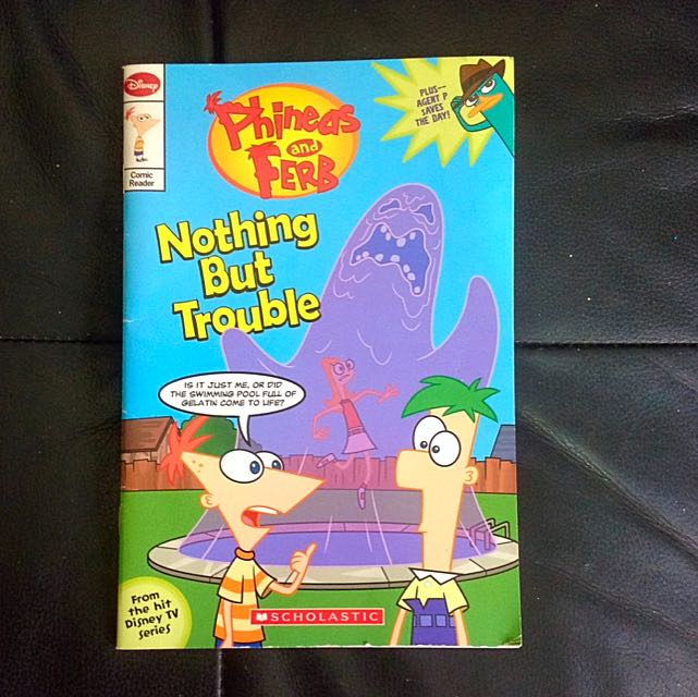 $2 Scholastic Phineas And Ferb, Nothing But Trouble Comic