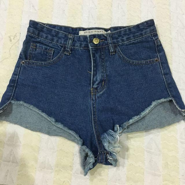 歐美高腰短褲