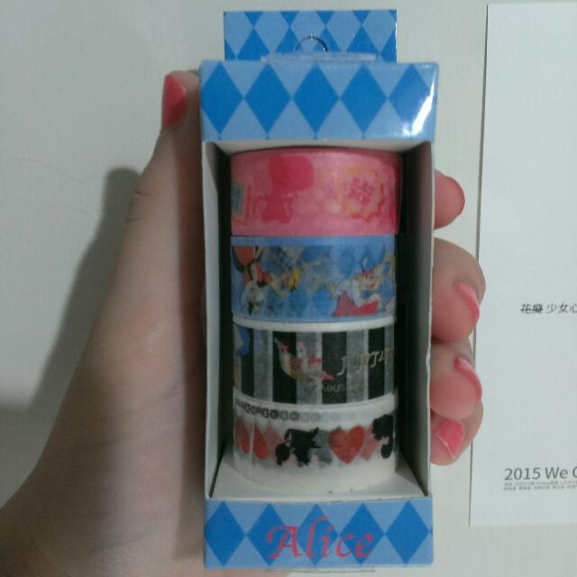 愛麗絲紙膠帶 二手卷出清 贈愛麗絲小便條紙兩張