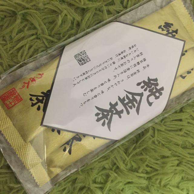 日本 金澤 名品 純金茶