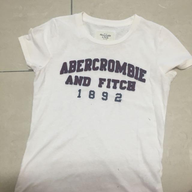 Abercrombie&Fitch 美國帶回/白色T Shirt