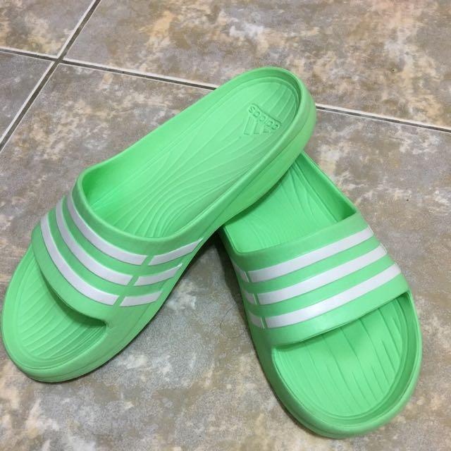 含運✨ Adidas青蘋果綠 拖鞋