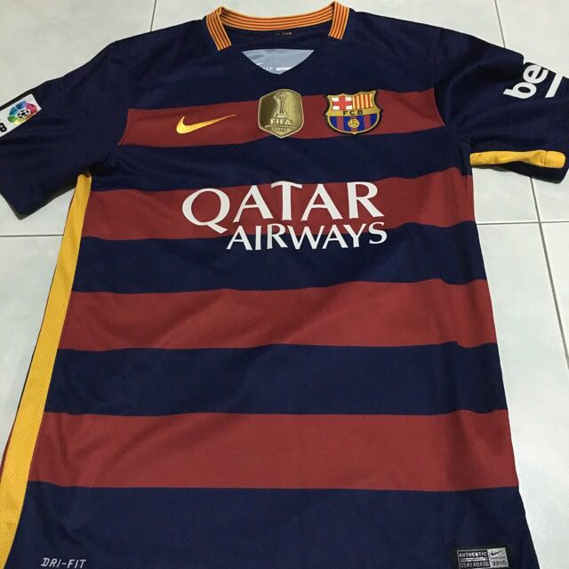 sale retailer ca498 f9311 Barcelona Home 2015/2016 Authentic Neymar Jersey on Carousell