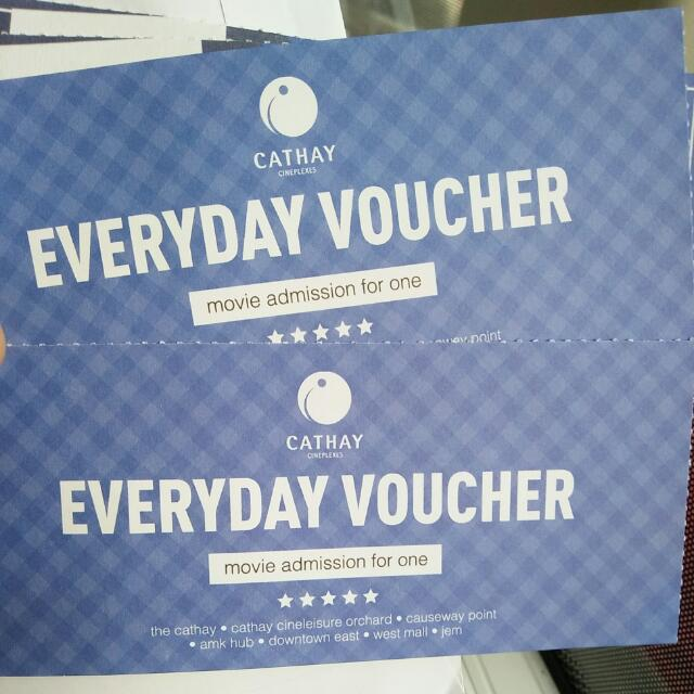 Cathay movie tickets plus $10 snack voucher