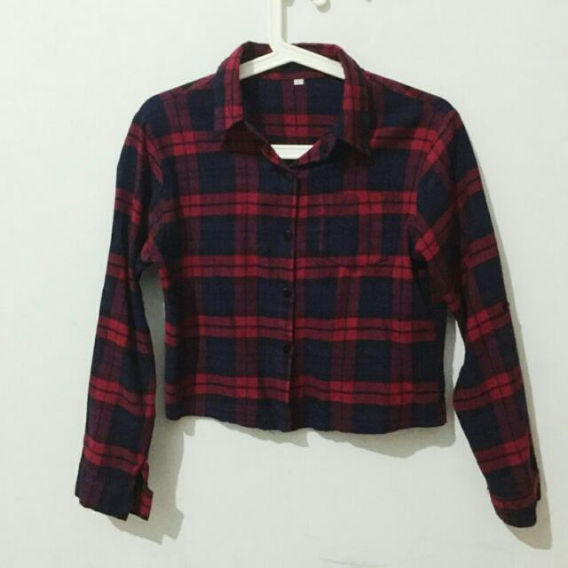 Cropped Plaid Flannel