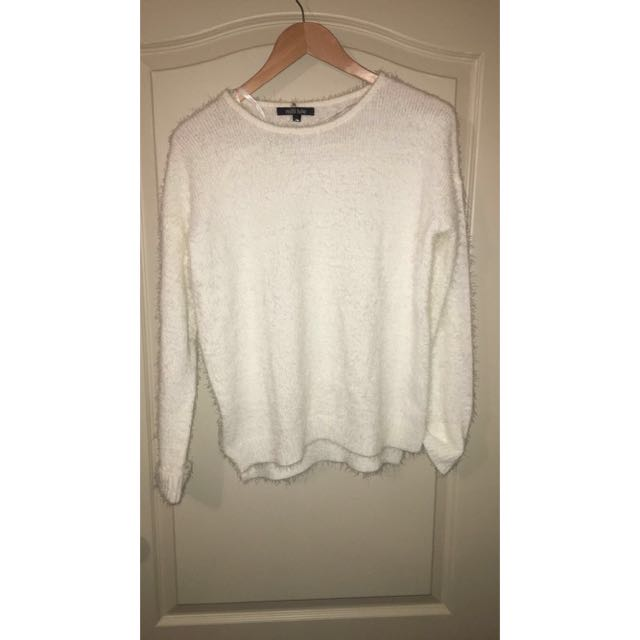 Fluffy White Knit
