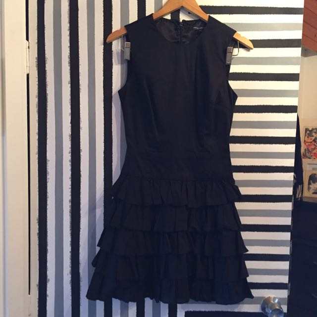 French Connection FCUK Black Cocktail Evening Dress Size 6 (8)