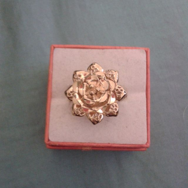 Gold Plated Flowery Layers Ring
