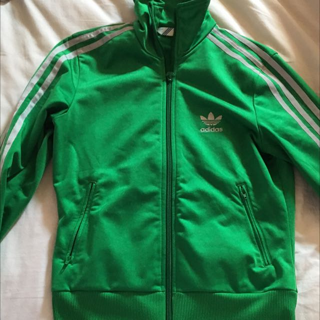 Green Adidas Zip Up