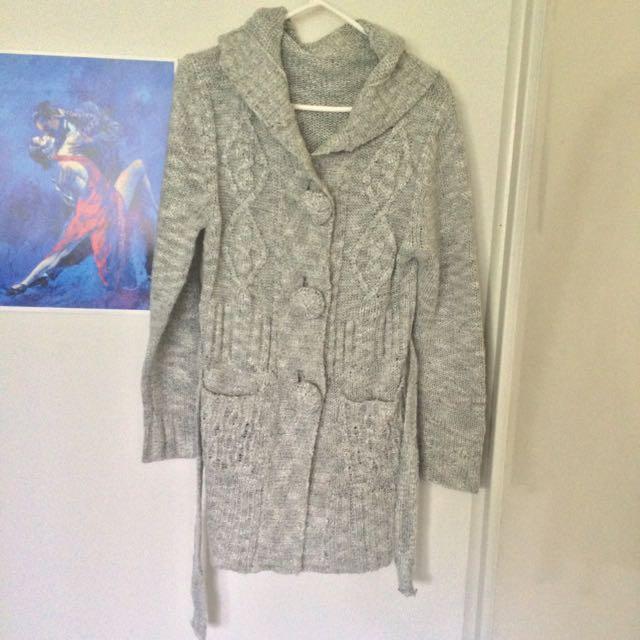 Grey Cardigan Size M