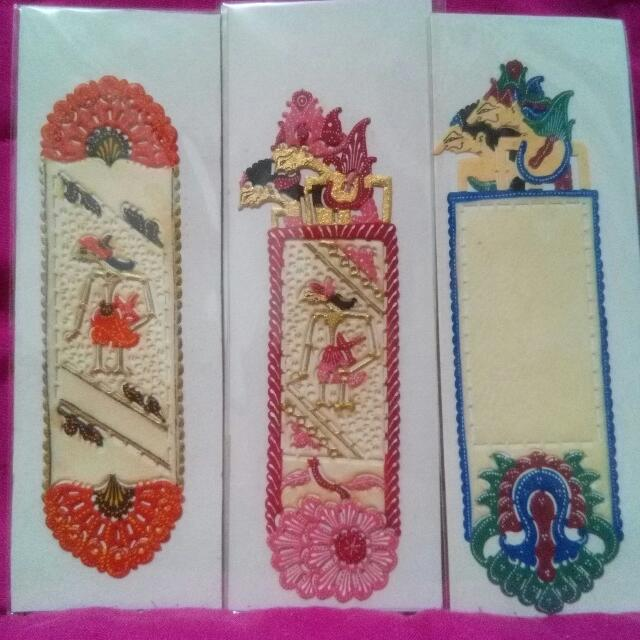 Handcrafted Leather Puppet Bookmark - Pembatas Buku Wayang Kulit