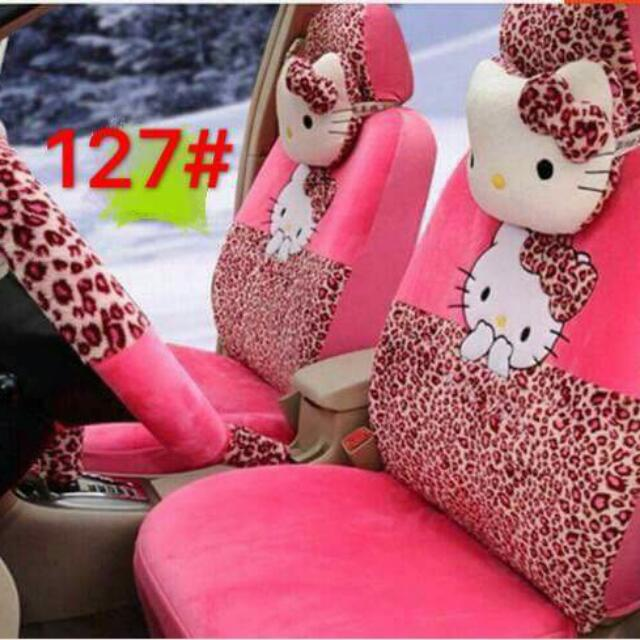 Hello Kitty Car Seat Covers Auto Accessories Others On Carousell