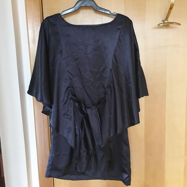 Navy Silk Dress