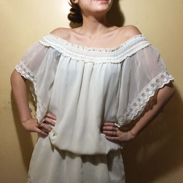 Off Shoulder Boho Dress