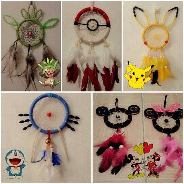 Pokemon, Disney, Doraemon Dream Catcher