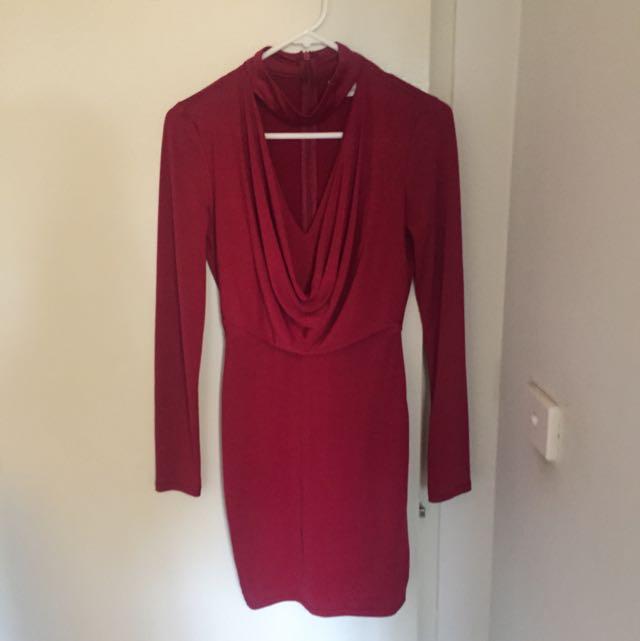 Red Choker Dress