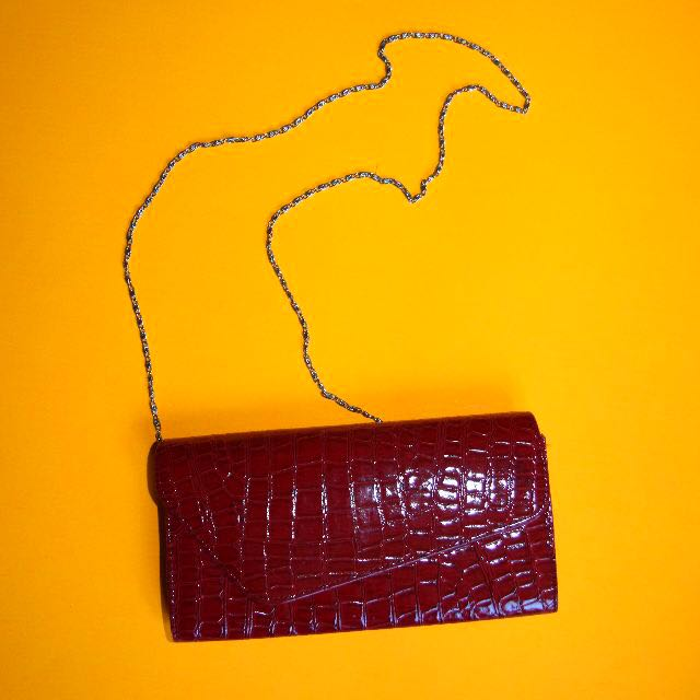 Red Clutch and purse