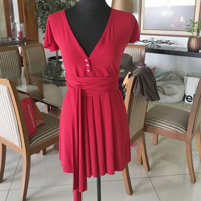 Red Multi Way Dress