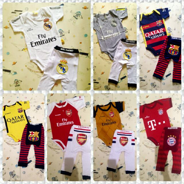 19646f8670d $12 ONLY Romper and Legging Set Barcelona Real Arsenal Liverpool ...