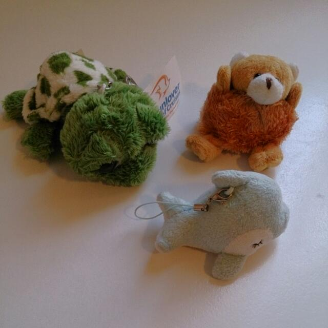 Small Soft Toy Dolphin And Bear $2 Each