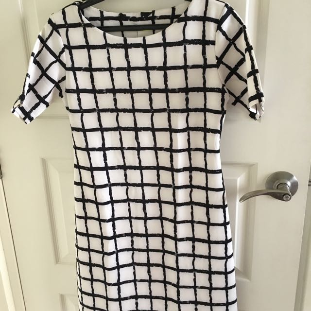 Squared Print Dress