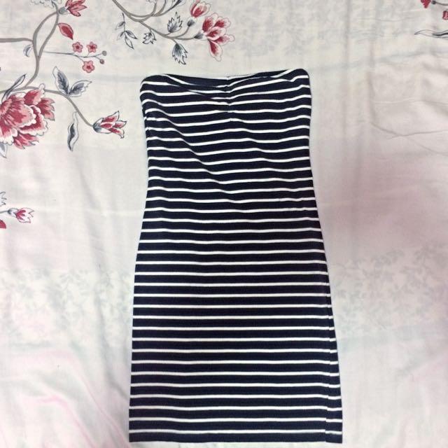 Striped Bodycon Tube Dress