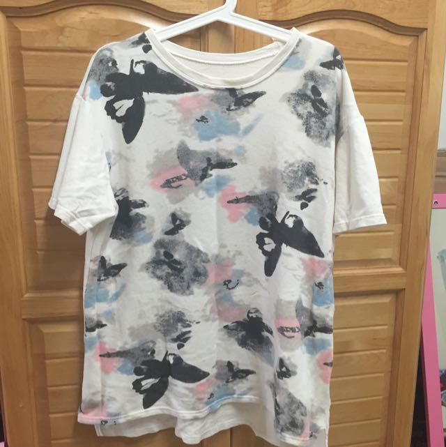 潑墨寬版上衣T Shirt