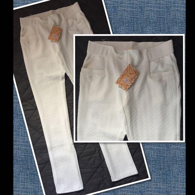 White Stretchable Pants